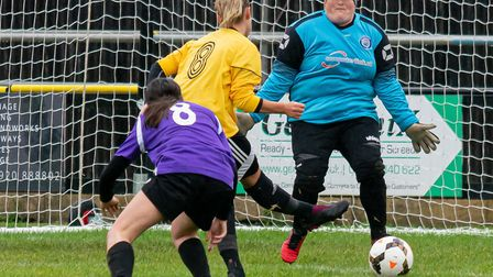 Josie Turner scored four times for March Town Ladies in their league victory at home to Riverside Ladies. Picture: STEVE HONE