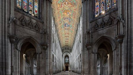 Hand sanitiser stations, social distancing signage and limited capacity as Ely Cathedral welcomes visitors.