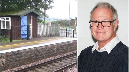 Manea station volunteer Peter Townrow scooped a 'Special Award' for 10 years of hard work transforming the Fenland railway...