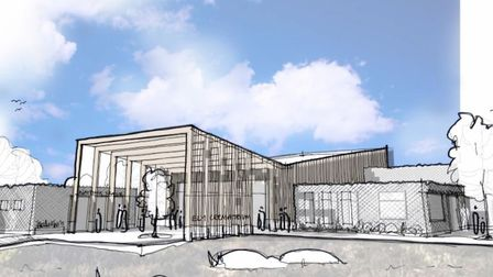 Mepal: Fierst concept sketch of the proposed crematorium and woodland burial area at Mepal Outdoor Centre. Picture; ECDC