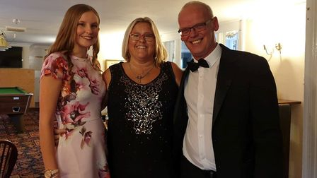 Colin and Michelle Wilson with daughter Jean Danskin at the Fenland Business Awards. Picture: Falcon Hotel
