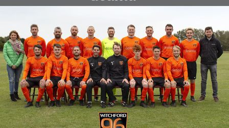 The Witchford 96 squad with their Deanta-sponsored kit.