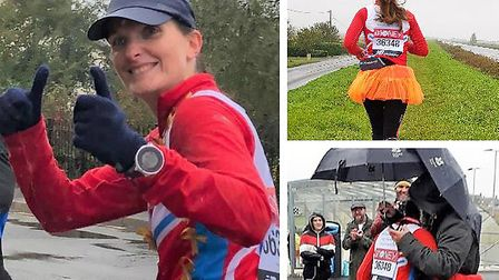 Littleport runner Karen Wells completed the London Marathon distance and has raised £1,416.50 for Children with Cancer UK.