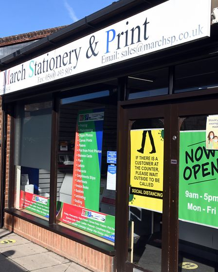 Steve Bailey, proprietor at March Stationery & Print (pictured), said the business has increased its range of services and...