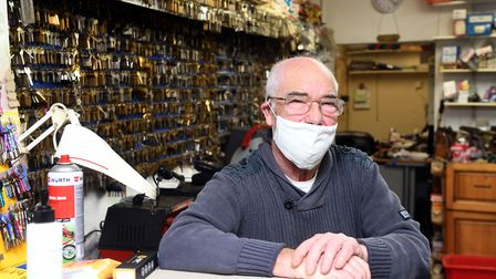John Seekings (pictured), owner of The Lock Shop, said he stocks around 100,000 keys and boasts a wall of old locks he has...