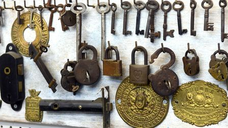 John Seekings, owner of The Lock Shop, said he stocks around 100,000 keys and boasts a wall of old locks he has collected...