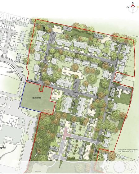 The planning application for 53 houses comprised of 20 flats in five two-storey blocks (10 one-bed flats and 10 two-bed...