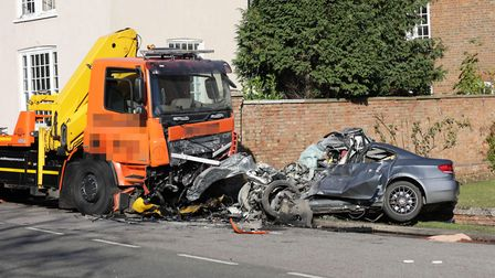 A man died following a serious collision involving a car and a HGV on the B1043.. Officers and paramedics attended at...