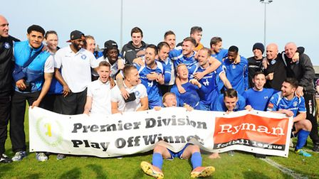 Ryman League Premier Division.Play Off Final.Lowestoft Town v AFC Hornchurch at Crown Meadow.Play of