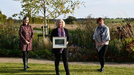 Old Park Meadow Natural Burial Ground at North End has won a silver award. Pictured are Bereavement Adviser Alison...