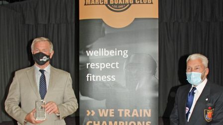 Lord Lieutenant Julie Spence presented the Queen's Award for Voluntary Service to March Boxing Club. The mayor of March...