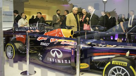 Sebastian Vettel's Red Bull Racing F1 car at the official opening of Infiniti Centre Norwich in Vulc