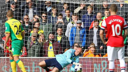 John Ruddy impressed against Arsenal in Norwich City's final day 2-0 Premier League defeat. Picture