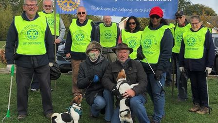 The community litter pick in Takeley. Picture: The Rotary Club of Dunmow