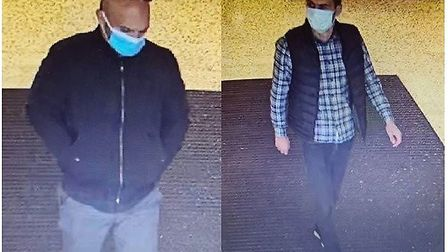 Police want to speak to these two men in connection with incidents in Chatteris and Huntingdonnwhere purses were stolen...