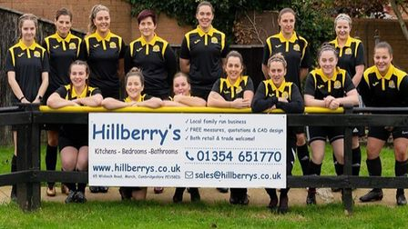March Town Ladies have secured the sponsorship of Hillberry's Kitchens and Bedrooms as their new matchday polo shirt...