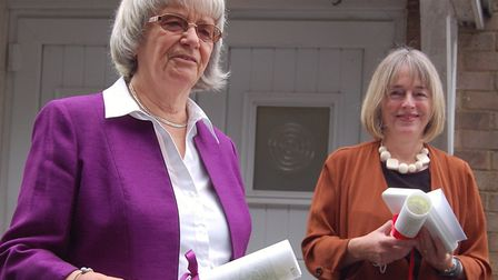 Margaret Howett and Claire Reeve were awarded a Papal Benemerenti medal and scroll for their long and exceptional services...