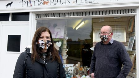 Helen Browne (left) and Phill Green have been running Pets Pantry in Chatteris for three years. Picture: IAN CARTER