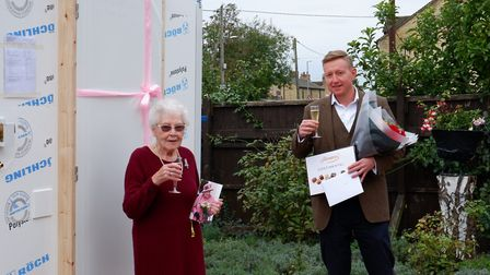 Mona Garbutt received a dignity pod for her 100th birthday after moving to Cambridgeshire during the coronavirus lockdown.