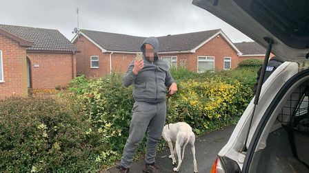 """Fenland Police reported on October 21 that """"this coursing vehicle has been running amock with others around the county..."""