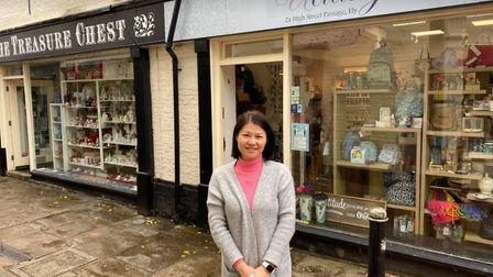 """The owner of Uclassy gift shop in Ely, Emily Chen, says she is """"very grateful"""" for the support she has received from local..."""