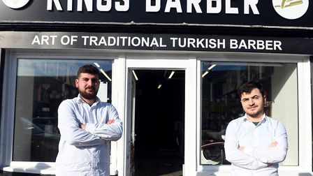 Ugur Bozkurt (left) and Salih Solak are bidding for success since opening the business in July. Picture: IAN CARTER