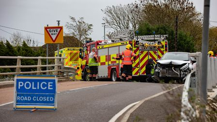 Police attended a collision near Boots Bridge, Manea, on Sunday November 1. One of the cars involved landed in a nearby...
