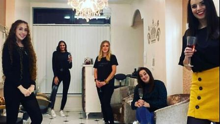The team at Empire hair and beauty studio in Soham celebrating after they received a five-star rating - just 18 months...