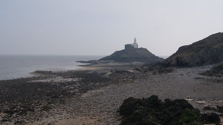 The lighthouse at The Mumbles.