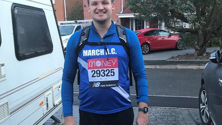 March Athletic Club runners braved the wet weather to take part in the virtual London Marathon. Picture: TRACEY DICKERSON