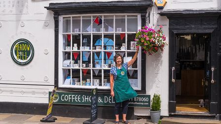 Carole Sansom at her Meadow Hill Cafe. Picture: SAFFRON PHOTO