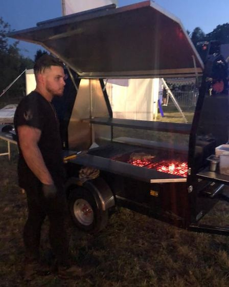 Burwell Anchor chef Patron Stuart Drake is a man of multiple talents - here seen conjuring up superb outdoor food for...