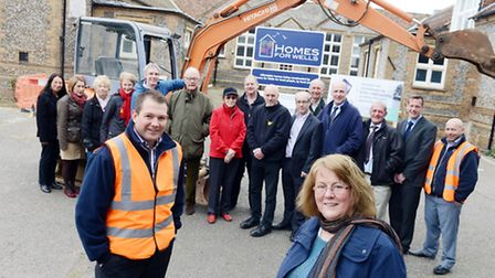 The official start of the Homes for Wells building work. The project benefited from a £150,000 Big S