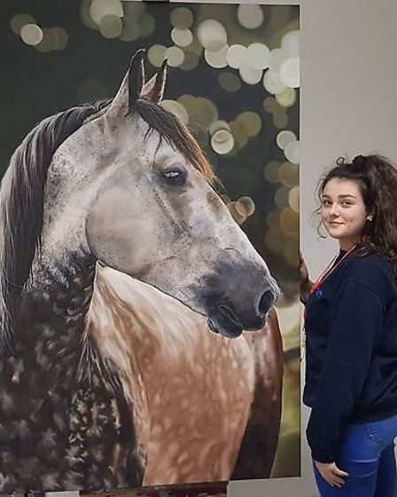 Charlotte Hannaford has been painting and sketching for most of her life and she said without art, her life would be...