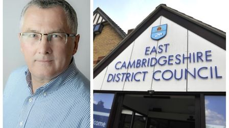 Cllr David Ambrose Smith (left), chairman of the finance and assets committee at East Cambridgeshire District Council...