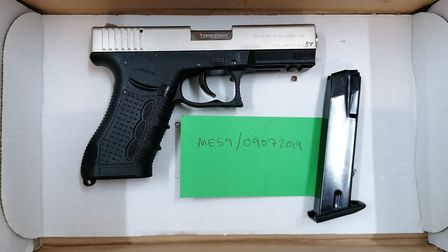 Otto Bacharach, of Vawser Way, Cambridge, has been sentenced for importing prohibited weapons - including three pistols...