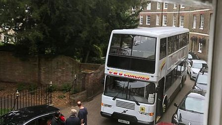 Time we employed traffic wardens says John Anker after tweeting this photo of a double decker trapped in Wisbech by bad...