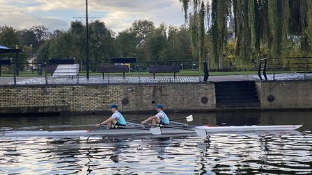 King's Ely Boat Club's newest double scull has been named in honour of one of the school's long-serving rowing coaches.