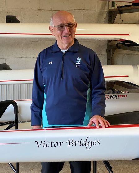 King?'s Ely Boat Club?s newest double scull has been named in honour of one of the school?s long-serving rowing coaches.