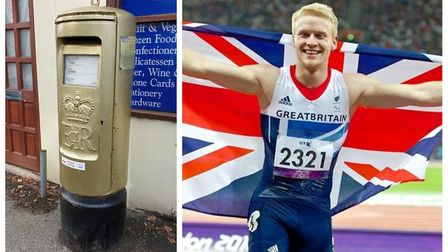 A postbox in Doddington, painted gold in recognition of Paralympic gold medallist Jonnie Peacock, has been repaired after...