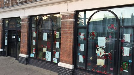 The Remembrance Day display was created by the March Can't Sing Choir, 20Twenty Productions and Panini's café in March.