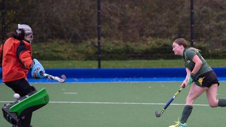 Ely City ladies in action at the weekend. Picture: ELY CITY HOCKEY CLUB