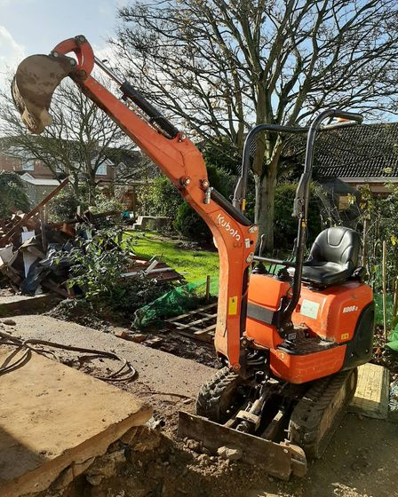 Police successfully located this stolen mini digger in Eastrea and returned it to its owners. Picture: Policing Fenland