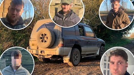 Five suspected hare coursers were caught by police after they attempted to flee a pursuing helicopter. Picture: Policing...