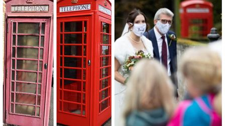 Stuart Aldous renovated the K6 phone box on High Street, Witcham, which acted as the backdrop to a hastily arranged...
