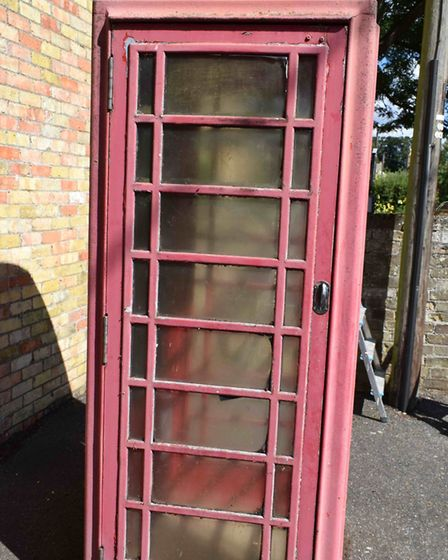 What the phone box used to look like before renovation. Picture: SUPPLIED/STUART ALDOUS