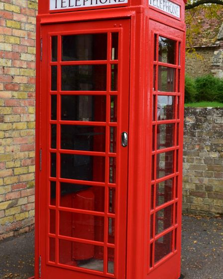 What the phone box looks like now after renovation work. Picture: SUPPLIED/STUART ALDOUS