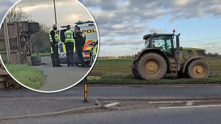 The vehicle which caused delays on the A141 between March and Wimblington was a tractor trailer. Picture: Dan Martin /...