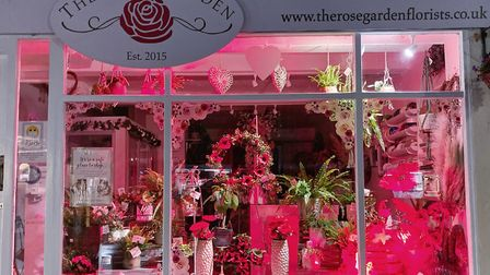 The Rose Garden in Great Dunmow's window for Remembrance Sunday. Picture: THE ROSE GARDEN