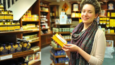 Melanie McGhee at the Colman's Mustard shop and museum in Norwich's Royal Arcade. Photo: Bill Smith